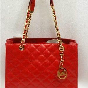 Michael kors red Susannah handbag
